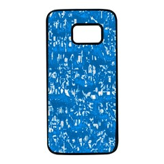 Glossy Abstract Teal Samsung Galaxy S7 Black Seamless Case