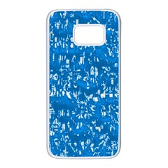 Glossy Abstract Teal Samsung Galaxy S7 White Seamless Case