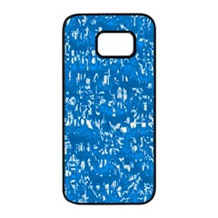 Glossy Abstract Teal Samsung Galaxy S7 edge Black Seamless Case