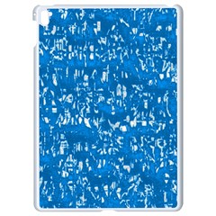 Glossy Abstract Teal Apple iPad Pro 9.7   White Seamless Case