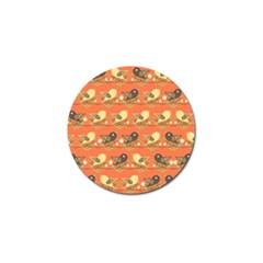 Birds Pattern Golf Ball Marker (4 pack)
