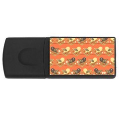 Birds Pattern USB Flash Drive Rectangular (4 GB)
