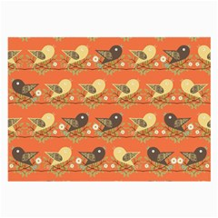 Birds Pattern Large Glasses Cloth
