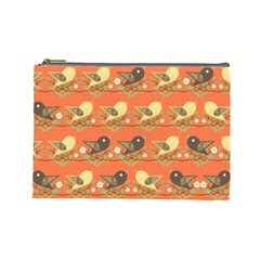 Birds Pattern Cosmetic Bag (Large)