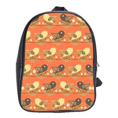 Birds Pattern School Bags(large)