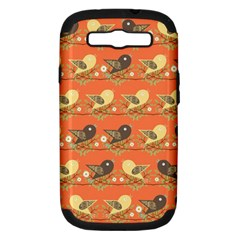 Birds Pattern Samsung Galaxy S Iii Hardshell Case (pc+silicone)