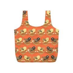 Birds Pattern Full Print Recycle Bags (S)