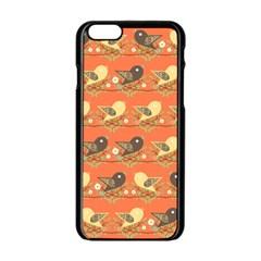 Birds Pattern Apple iPhone 6/6S Black Enamel Case