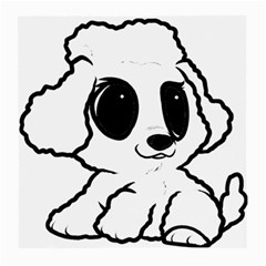 Poodle Cartoon White Medium Glasses Cloth (2 Side)