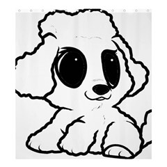 Poodle Cartoon White Shower Curtain 66  X 72  (large)