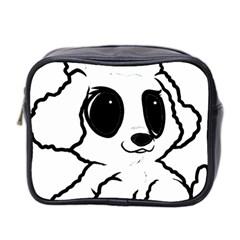 Poodle Cartoon White Mini Toiletries Bag 2-Side