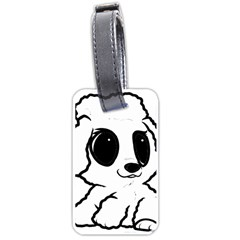 Poodle Cartoon White Luggage Tags (Two Sides)