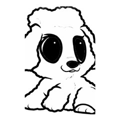Poodle Cartoon White Shower Curtain 48  x 72  (Small)