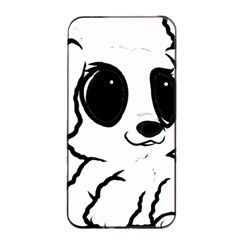 Poodle Cartoon White Apple iPhone 4/4s Seamless Case (Black)