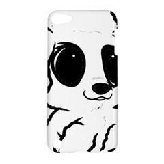Poodle Cartoon White Apple iPod Touch 5 Hardshell Case