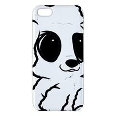 Poodle Cartoon White Apple iPhone 5 Premium Hardshell Case