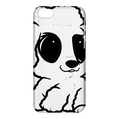Poodle Cartoon White Apple iPhone 5C Hardshell Case