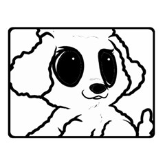 Poodle Cartoon White Double Sided Fleece Blanket (Small)