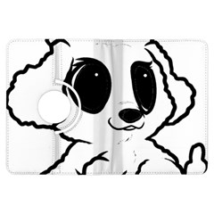 Poodle Cartoon White Kindle Fire HDX Flip 360 Case