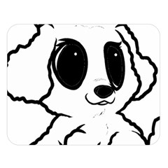 Poodle Cartoon White Double Sided Flano Blanket (Large)