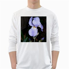 Bearded Iris White Long Sleeve T-Shirts