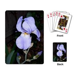 Bearded Iris Playing Card