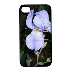 Bearded Iris Apple Iphone 4/4s Hardshell Case With Stand
