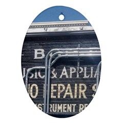 Boise Music And Appliance Radio Repair Painted Sign Ornament (Oval)