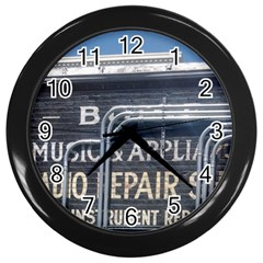 Boise Music And Appliance Radio Repair Painted Sign Wall Clocks (Black)