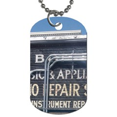 Boise Music And Appliance Radio Repair Painted Sign Dog Tag (Two Sides)