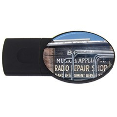 Boise Music And Appliance Radio Repair Painted Sign USB Flash Drive Oval (1 GB)