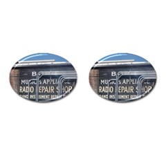 Boise Music And Appliance Radio Repair Painted Sign Cufflinks (Oval)