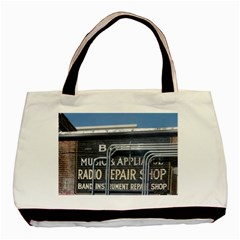 Boise Music And Appliance Radio Repair Painted Sign Basic Tote Bag