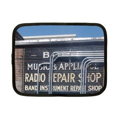 Boise Music And Appliance Radio Repair Painted Sign Netbook Case (Small)