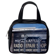 Boise Music And Appliance Radio Repair Painted Sign Classic Handbags (One Side)