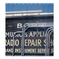 Boise Music And Appliance Radio Repair Painted Sign Shower Curtain 66  x 72  (Large)