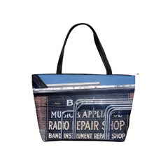 Boise Music And Appliance Radio Repair Painted Sign Shoulder Handbags
