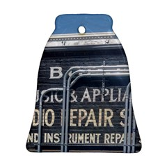 Boise Music And Appliance Radio Repair Painted Sign Bell Ornament (Two Sides)