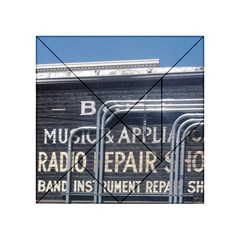 Boise Music And Appliance Radio Repair Painted Sign Acrylic Tangram Puzzle (4  x 4 )