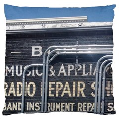 Boise Music And Appliance Radio Repair Painted Sign Large Cushion Case (One Side)