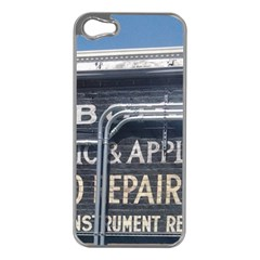 Boise Music And Appliance Radio Repair Painted Sign Apple iPhone 5 Case (Silver)