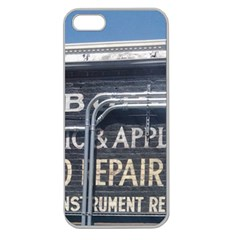 Boise Music And Appliance Radio Repair Painted Sign Apple Seamless iPhone 5 Case (Clear)