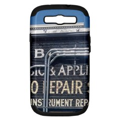 Boise Music And Appliance Radio Repair Painted Sign Samsung Galaxy S III Hardshell Case (PC+Silicone)