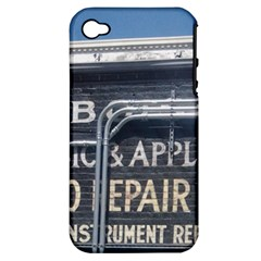 Boise Music And Appliance Radio Repair Painted Sign Apple iPhone 4/4S Hardshell Case (PC+Silicone)