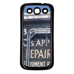 Boise Music And Appliance Radio Repair Painted Sign Samsung Galaxy S3 Back Case (Black)
