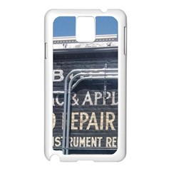 Boise Music And Appliance Radio Repair Painted Sign Samsung Galaxy Note 3 N9005 Case (White)