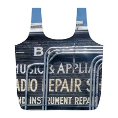 Boise Music And Appliance Radio Repair Painted Sign Full Print Recycle Bags (l)
