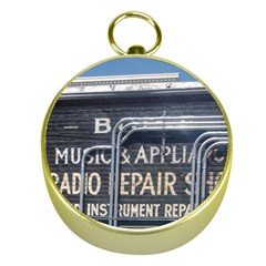 Boise Music And Appliance Radio Repair Painted Sign Gold Compasses