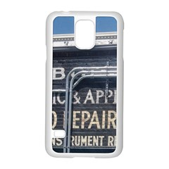 Boise Music And Appliance Radio Repair Painted Sign Samsung Galaxy S5 Case (White)