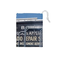 Boise Music And Appliance Radio Repair Painted Sign Drawstring Pouches (Small)